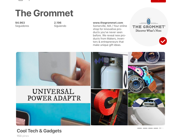 the grommet is a business doing well on pinterest