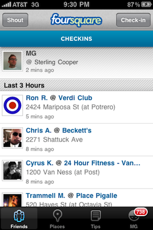 The Old Foursquare. Image from TechCrunch