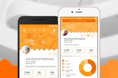 Swarm app. Image from The Verge