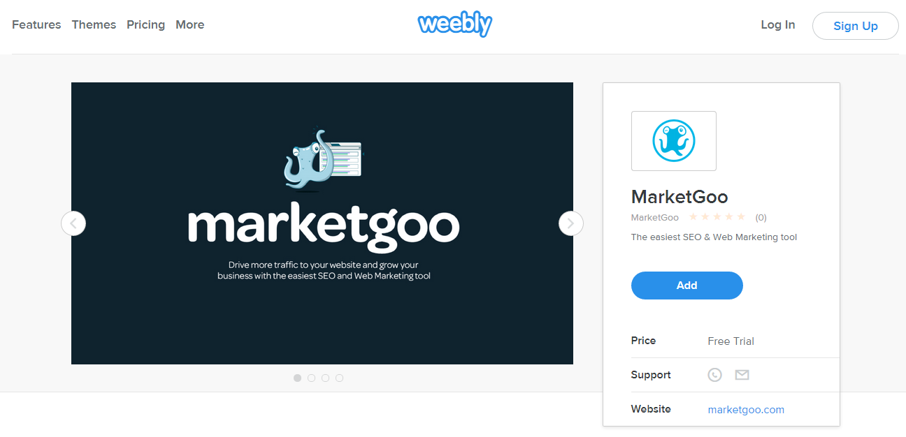 search for us at the weebly app center!