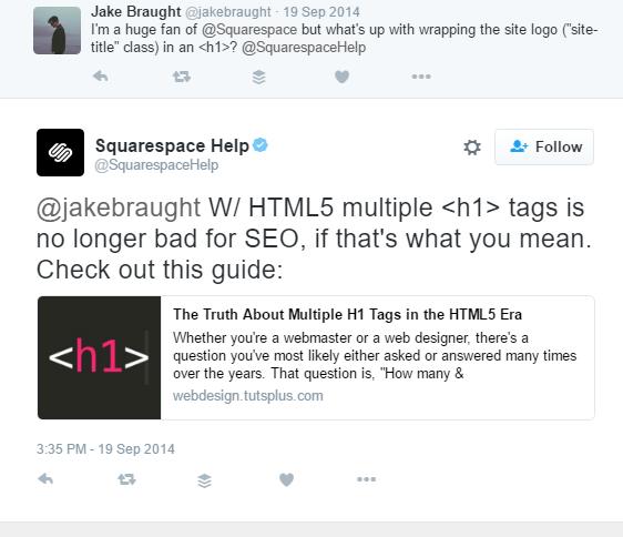 squarespace header h1
