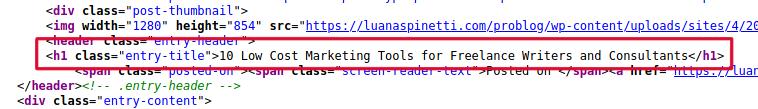 H1 Tags SEO: what an h1 HTML code looks like