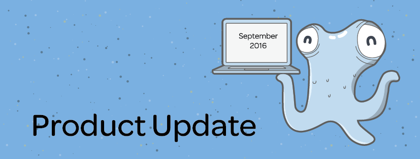 Product Update: September 2016