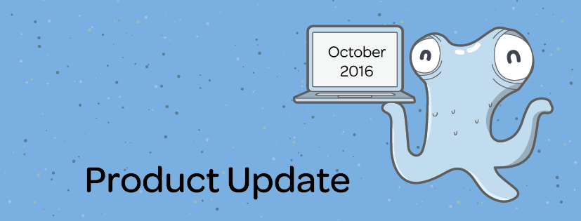 Product Update: October 2016