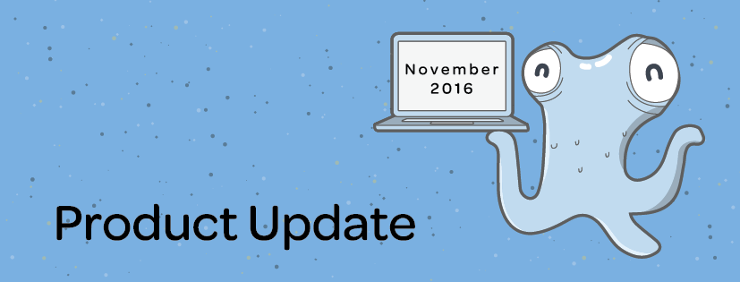 Product Update: November 2016
