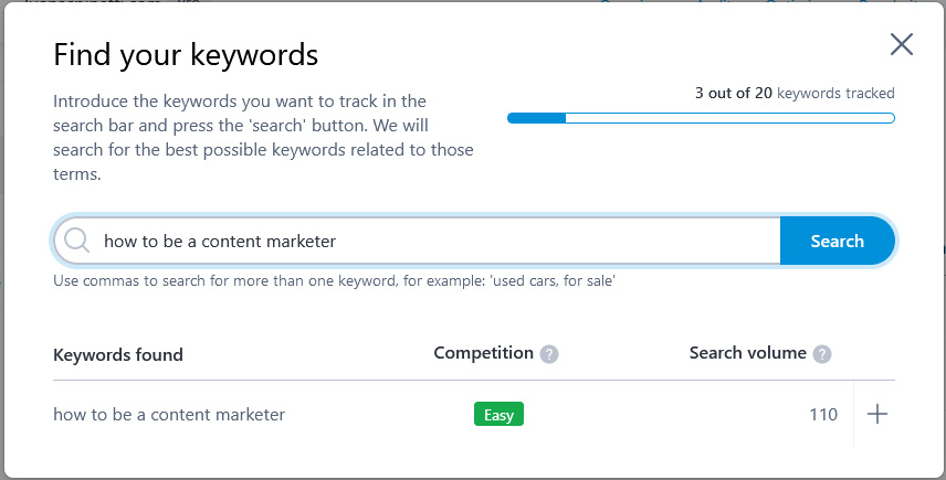 how to choose SEO keywords: using marketgoo