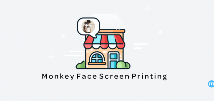 small business monkey face screen printing custom tshirts